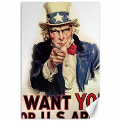 Uncle Sam Canvas 24  X 36  by Valentinaart