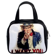 Uncle Sam Classic Handbags (2 Sides) by Valentinaart