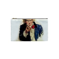 Uncle Sam Cosmetic Bag (small)  by Valentinaart