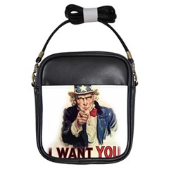 Uncle Sam Girls Sling Bags by Valentinaart