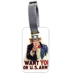 Uncle Sam Luggage Tags (one Side)  by Valentinaart
