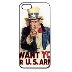 Uncle Sam Apple Iphone 5 Seamless Case (black) by Valentinaart