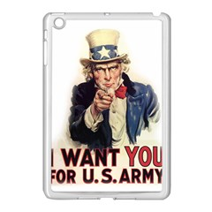 Uncle Sam Apple Ipad Mini Case (white) by Valentinaart