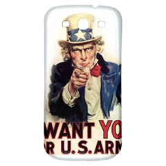 Uncle Sam Samsung Galaxy S3 S Iii Classic Hardshell Back Case by Valentinaart