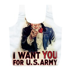 Uncle Sam Full Print Recycle Bags (l)  by Valentinaart