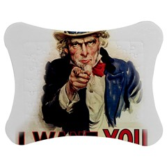 Uncle Sam Jigsaw Puzzle Photo Stand (bow) by Valentinaart