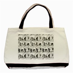 Old Comic Strip Basic Tote Bag (two Sides) by Valentinaart
