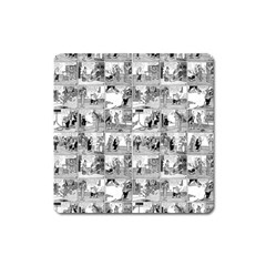 Old Comic Strip Square Magnet by Valentinaart