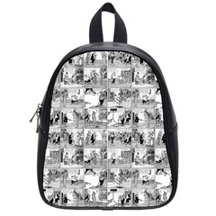 Old Comic Strip School Bags (small)  by Valentinaart