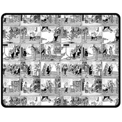 Old Comic Strip Fleece Blanket (medium)  by Valentinaart