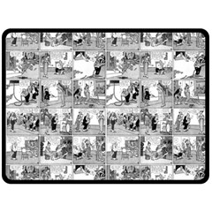 Old Comic Strip Double Sided Fleece Blanket (large)  by Valentinaart