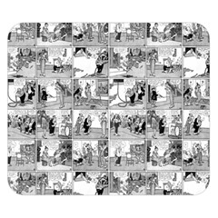 Old Comic Strip Double Sided Flano Blanket (small)  by Valentinaart
