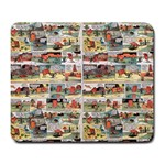 Old comic strip Large Mousepads Front