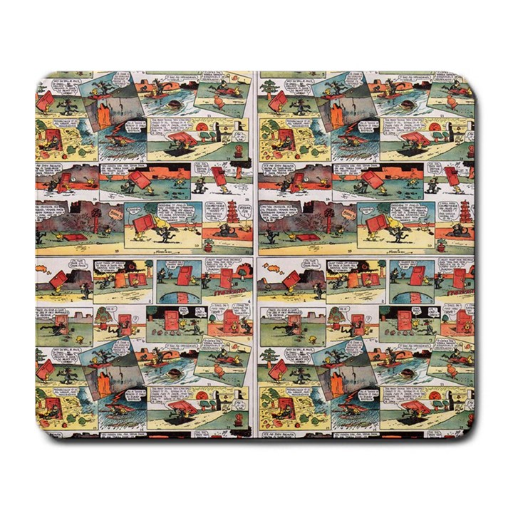 Old comic strip Large Mousepads