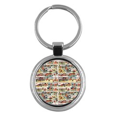 Old Comic Strip Key Chains (round)  by Valentinaart
