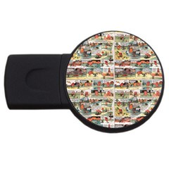 Old Comic Strip Usb Flash Drive Round (2 Gb) by Valentinaart