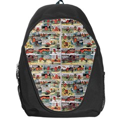 Old Comic Strip Backpack Bag by Valentinaart