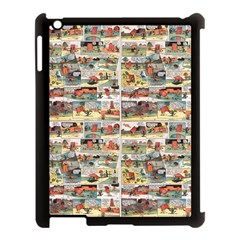 Old Comic Strip Apple Ipad 3/4 Case (black) by Valentinaart