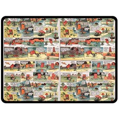 Old Comic Strip Double Sided Fleece Blanket (large)