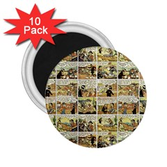 Old Comic Strip 2 25  Magnets (10 Pack)  by Valentinaart