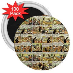 Old Comic Strip 3  Magnets (100 Pack) by Valentinaart