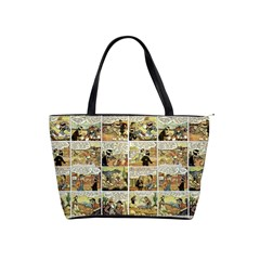 Old Comic Strip Shoulder Handbags by Valentinaart