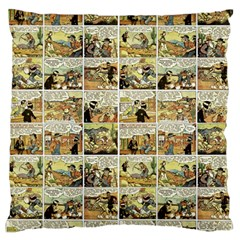 Old Comic Strip Large Flano Cushion Case (two Sides) by Valentinaart