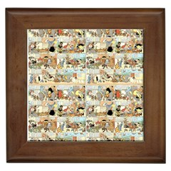 Old Comic Strip Framed Tiles by Valentinaart