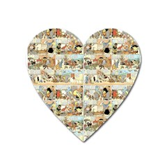 Old Comic Strip Heart Magnet by Valentinaart
