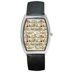 Old Comic Strip Barrel Style Metal Watch by Valentinaart