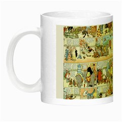 Old Comic Strip Night Luminous Mugs by Valentinaart