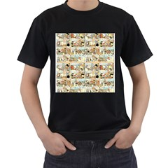 Old Comic Strip Men s T-shirt (black) by Valentinaart