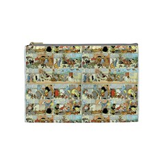 Old Comic Strip Cosmetic Bag (medium)  by Valentinaart