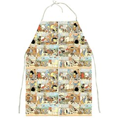 Old Comic Strip Full Print Aprons