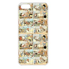 Old Comic Strip Apple Iphone 5 Seamless Case (white) by Valentinaart