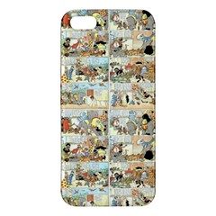 Old Comic Strip Apple Iphone 5 Premium Hardshell Case by Valentinaart