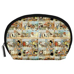 Old Comic Strip Accessory Pouches (large)  by Valentinaart