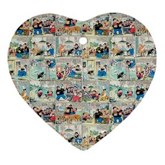 Old Comic Strip Heart Ornament (two Sides) by Valentinaart