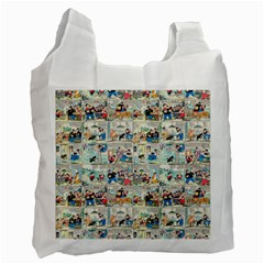 Old Comic Strip Recycle Bag (one Side) by Valentinaart