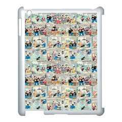 Old Comic Strip Apple Ipad 3/4 Case (white) by Valentinaart