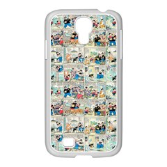 Old Comic Strip Samsung Galaxy S4 I9500/ I9505 Case (white) by Valentinaart