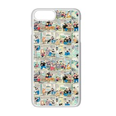 Old Comic Strip Apple Iphone 7 Plus White Seamless Case