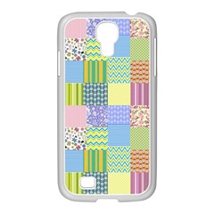 Old Quilt Samsung Galaxy S4 I9500/ I9505 Case (white) by Valentinaart