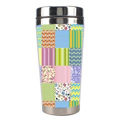 Old Quilt Stainless Steel Travel Tumblers by Valentinaart