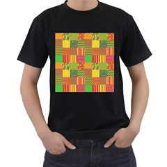 Old Quilt Men s T Shirt (black) (two Sided) by Valentinaart