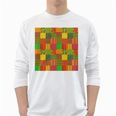 Old Quilt White Long Sleeve T Shirts