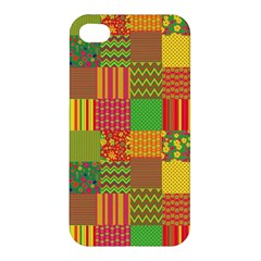 Old Quilt Apple Iphone 4/4s Hardshell Case by Valentinaart