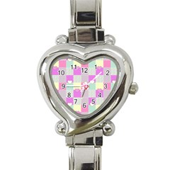 Old Quilt Heart Italian Charm Watch by Valentinaart