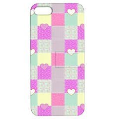 Old Quilt Apple Iphone 5 Hardshell Case With Stand
