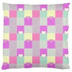 Old Quilt Standard Flano Cushion Case (one Side) by Valentinaart